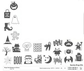 Spooky bingo bits